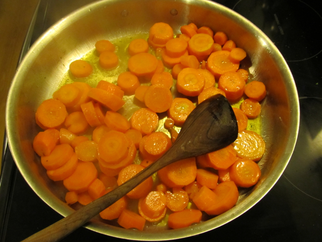 cooking carrots